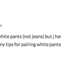 Style Trend Challenge: White Pants!
