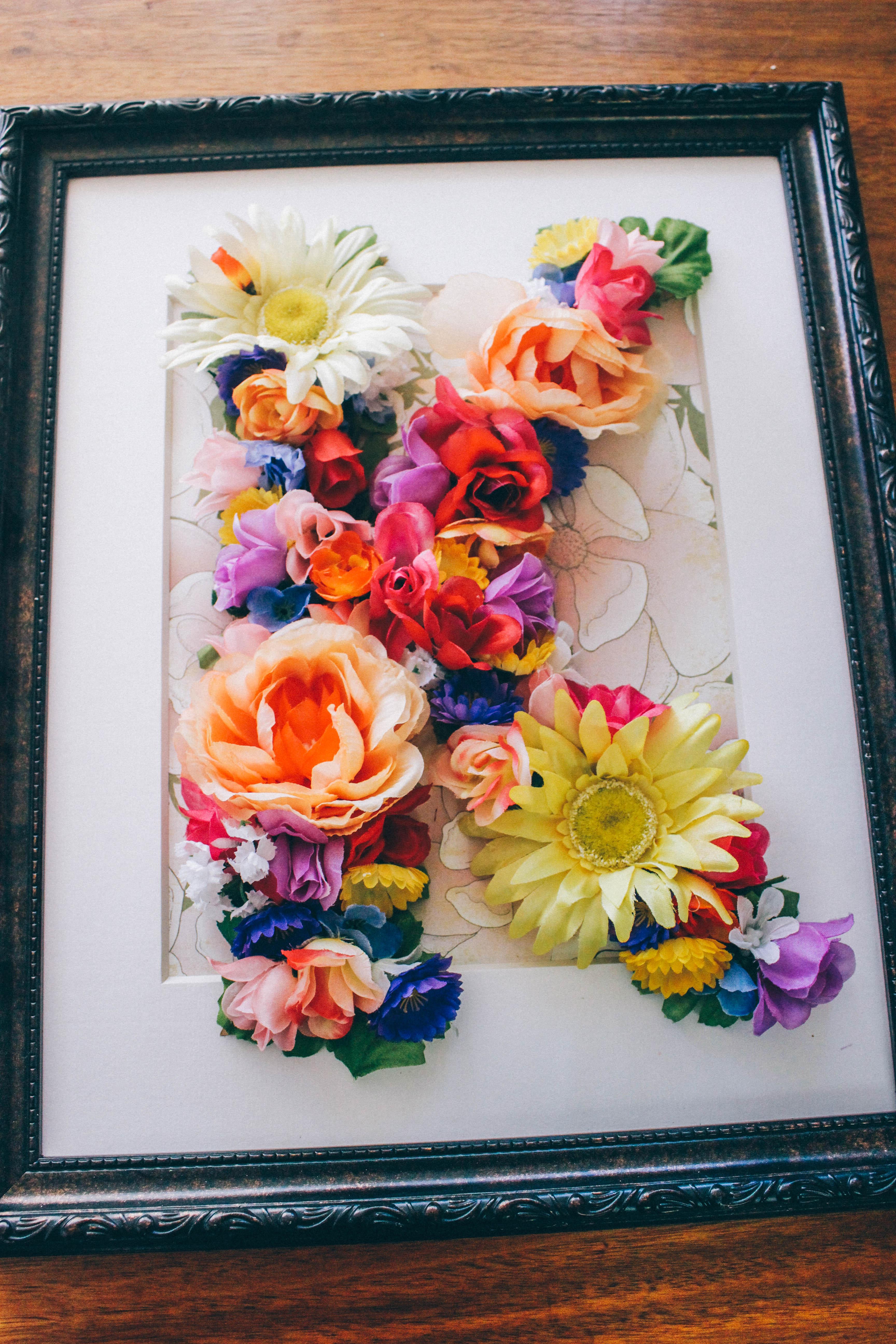 Floral Springtime Diy Accent Letter Potpurrri