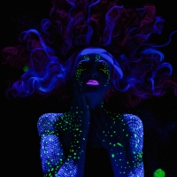 Blacklight Series: Space Mermaid
